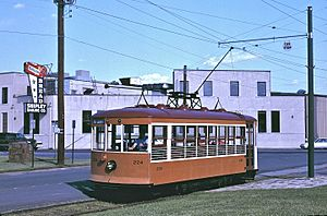 Fort Smith Birney car 224 at 6th & Garland (1997)