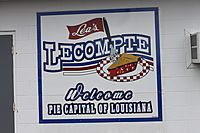 Lecompte, LA welcome sign IMG 4248