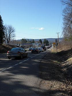 Pennsylvania Route 93 in Conyngham during a traffic jam