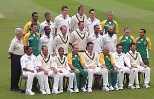 The South African team at The Oval in August 2008.
