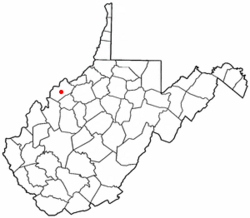 Location of Mineralwells, West Virginia