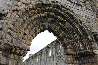Archway over main west door, St Andrews Cathedral