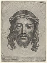 Claude Mellan - Face of Christ - WGA14764