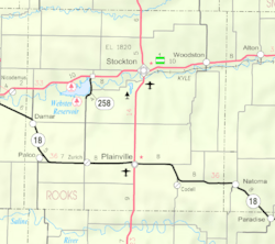 KDOT map of Rooks County (legend)