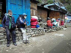 Short Rest on Everest Base Trail