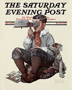 1922-1-14-Boy-with-Stereoscope-Norman-Rockwell