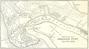 Battle of Arkansas Post map