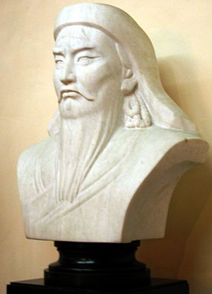 Bust of Genghis Khan in Mongolia