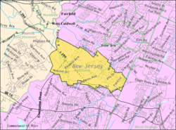 Census Bureau map of Roseland, New Jersey