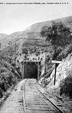 Entrance to the San Fernando Tunnel - Newhall Pass, circa 1900 (WVM231)