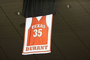Kevin Durant Texas retired number