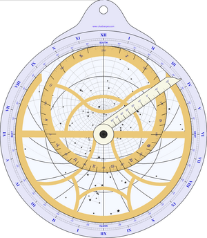 Planispheric astrolabe