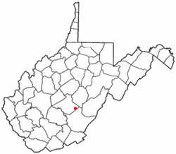 Location of Richwood, West Virginia