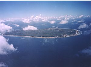 Aerial view of Nauru
