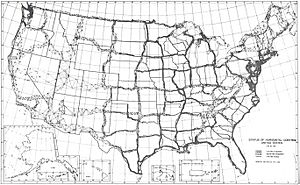 Horizontal Control Network of the United States June 1931