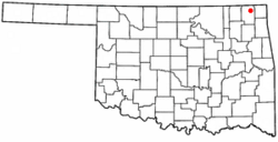 Location of Welch, Oklahoma