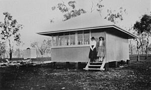Original one room school at Biddeston Queensland, circa 1921