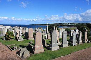 The Eastern Cemetery, St Andrews, looking south to the bay