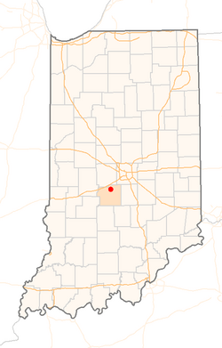 Location within Morgan County