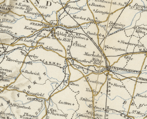 20th century map of Sutton