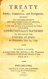 Facsimile of the first page of the Jay Treaty