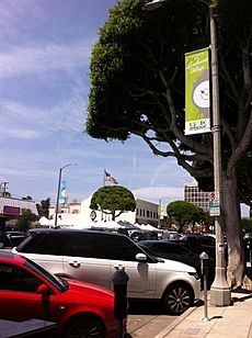 Larchmont village with farmers market 2014-05-04 14-46