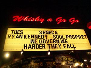 Marquee outside Whiskey a Go Go on the Sunset Strip, June 2, 2009