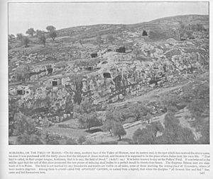 Outside of Jerusalem. Aceldama, or Field of Blood, 47.Holy land photographed. Daniel B. Shepp. 1894