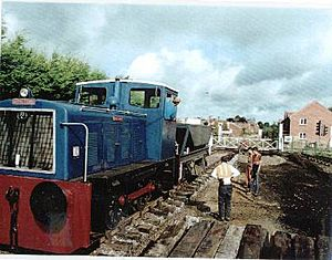 Relaying track at Dereham