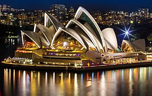 Sydneyoperahouse at night