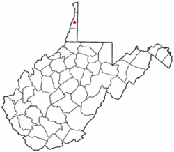 Location of West Liberty shown in West Virginia