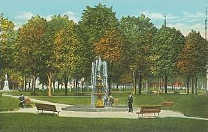City Park & Fountain, Lewiston, ME