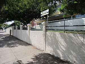 Old Cleveland Rd boundary walls and fences from W