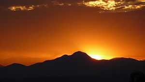 Sunset Over The Topatopa Mountains - From Santa Clarita