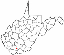 Location of Itmann, West Virginia