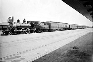 ATSF California Limited at Los Angeles circa 1899 William Henry Jackson photo