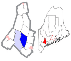 Location of Lewiston, Maine