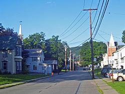 East view along Mill Street