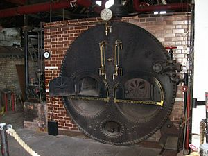 Galloway Lancashire Boiler at Coldharbour Mill - geograph.org.uk - 1297963
