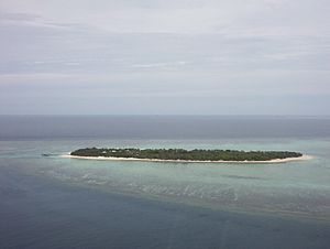 Heron Island, Australia - View of Island from helicopter