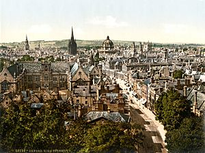 High Street, Oxford, England, 1890s