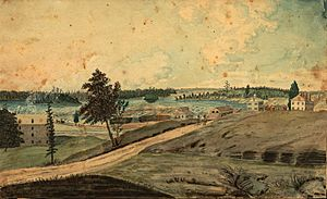 Hull, (Lower Canada), on the Ottawa River; at the Chaudier (sic) Falls, 1830