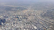 Los-Angeles-Civic-Center-and-Union-Station-Aerial-view-from-south-August-2014