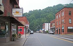 Main Street (West Virginia Route 97) in Pineville in 2007