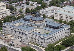 Thomas Jefferson Building Aerial by Carol M. Highsmith