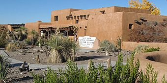 White Sands National Park visitor center and native plant garden, New Mexico, United States.jpg