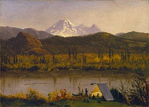 Brooklyn Museum - Mt. Baker, Washington, From the Frazier River - Albert Bierstadt - overall