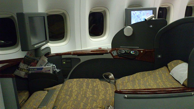 China Airlines First Class Product Fully Flat
