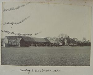 Dawley House & barns, Harlington, Middlesex, 1902