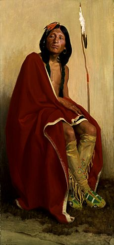 E. Irving Couse - Elk-Foot of the Taos Tribe - Smithsonian
